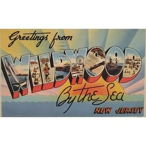 Greetings from Wildwood By the Sea NJ Postcard
